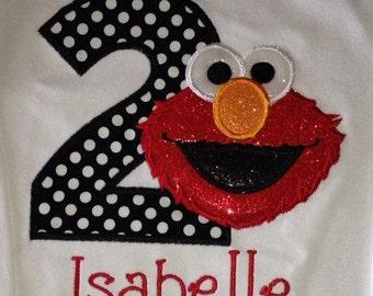 Girls Elmo Second Birthday bodysuit or shirt