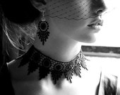 Black Lace Choker - to compliment Little Black Dress