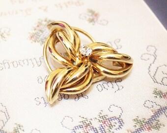 Vintage Gold Scarf Clip By Jeri Lou