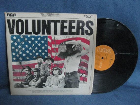 Rare Vintage Jefferson Airplane Volunteers