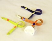 interchangeable handmade leather pacifier clip/holder by GENATI