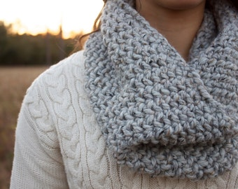 Chunky Grey Marble Cowl for Women // The Alder