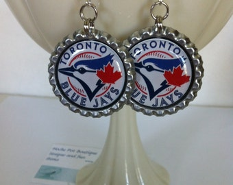 Toronto Blue Jays Earrings, Toronto Blue Jays Jewelry, Toronto Blue Jays Gift, Toronto Blue Jays Baseball Accessory, Handmade Gift