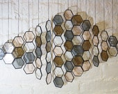 Stained Glass Honeycomb Drops (set of 14)
