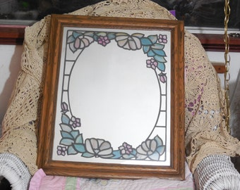 Stained Glass Look Mirror So Pretty:)S
