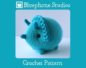 Crochet Pattern: Trixie the Triceratops