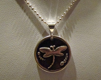 Dragonfly Fine Silver pendant