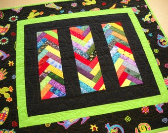 handmade quilt patchwork hand quilting wall quilt table quilt home décor traditional quilt Julie Karsky quilts