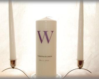 Personalized Unity Candle SET with Monogram, wedding candles, weddings, wedding decorations