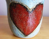 Big red heart beaker