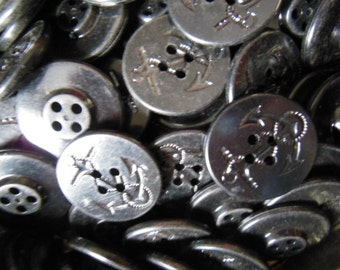 Custom for JJR, Three Vintage WWII Navy Pea Coat Buttons