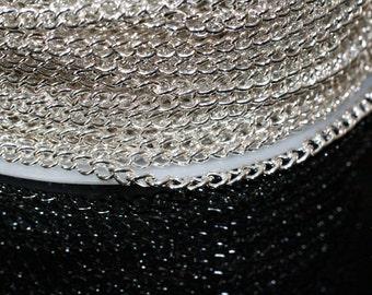 15ft Silver Twist Chain-4x3mm-unsoldered
