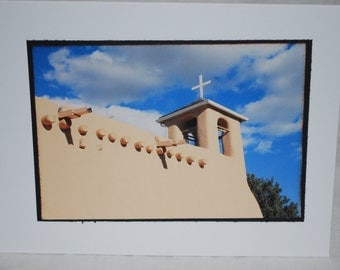 Photo card, San Francisco De Asis Church, Taos New Mexico
