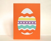 easter egg card making kit for kids - makes four diy folded cards