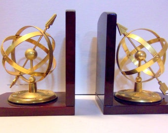 Sphere & Arrow Bookends
