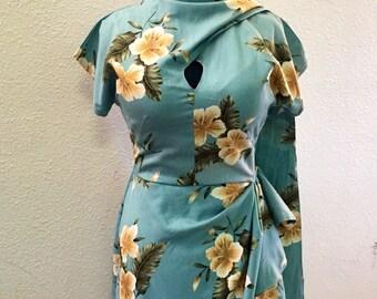 Esther Sarong Dress - 1940s vintage style custom handmade reproduction