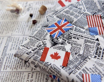 Newspaper Oxford Cotton Fabric - By the Yard 72668