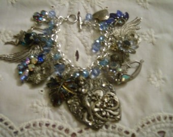 Etheral Love OOAK Charm Bracelet by Kay Creatives