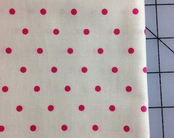 Tanya Whelan - Barefoot Roses Legacy Collection -Dot - Fat Quarter in Red- But they are really fuchsia