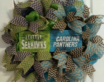 House Divided Wreath, Choose 2 Teams, House Divided with 2 Teams