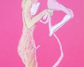 Reserved for A. WHITENER Figurative art nude female drawing