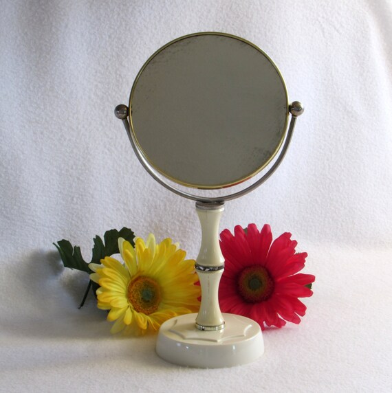 Double Sided Free Standing Vanity Magnifying Mirror By DayJahView