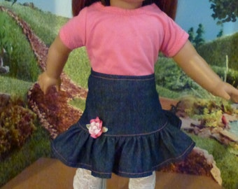 "18"" Doll Skirt  Fits American Girl, Madame Alexander and Gotz Dolls"