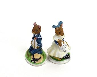 Vintage Mouse Figurines, A Mouse Family Album, Unique Cake Topper,  Rupert, Lucinda, Victorian, Franklin Mint Mice,  Pamela Sampson, Epsteam
