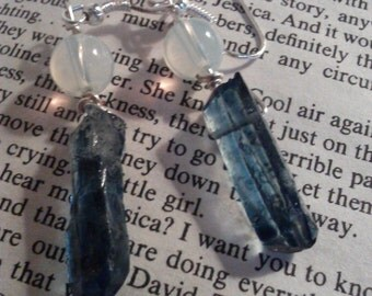 Blue Crystal Shard Earrings