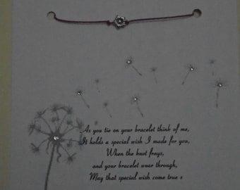 A Forget Me Knot wish bracelet