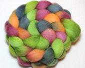Handpainted Roving - September Garden - Falkland Wool, 4 Ounces