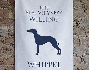 Whippet Tea Towel - Whippet Dish Cloth- Whippet Gift - Whippet Design - Whippet Present - Whippet Love - Whippet Homeware - Kitchen Linen