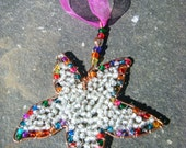 StarFish Hanging Decoration,Sea Life themed Recycled Copper wire with Glass bead work