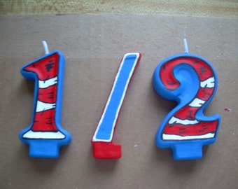 1/2 Birthday Candle Set