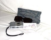 Slate Grey Felted Glasses Phone Camera Case