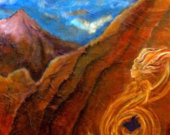 Vortexes Of Sedona, Original Fine Art 8 by 10 Print by Charlotte Phillips