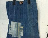 Handmade bag/purse with handwoven cotton fabric #3