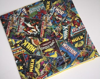 Marvel Avengers Comic Book Throw Pillow Slipcover - 16x16 Yellow