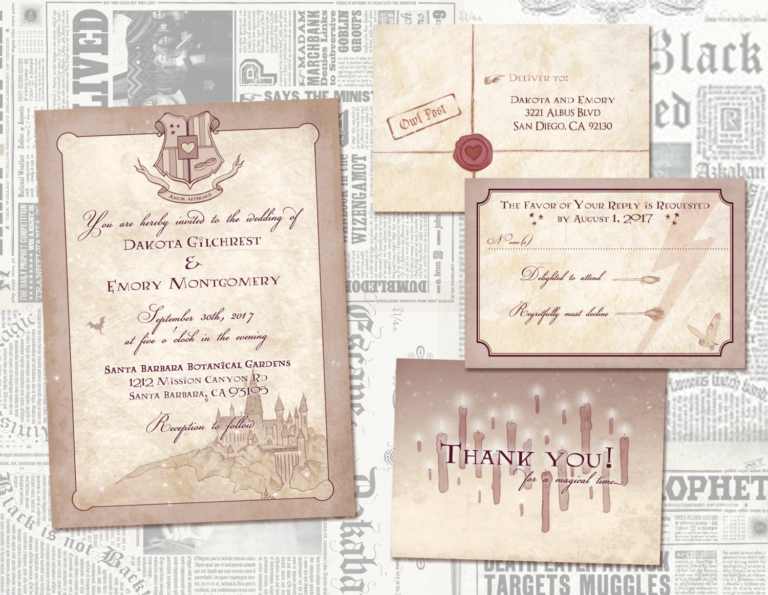 Lord Of The Rings Digital Wedding Invitation Middle Earth