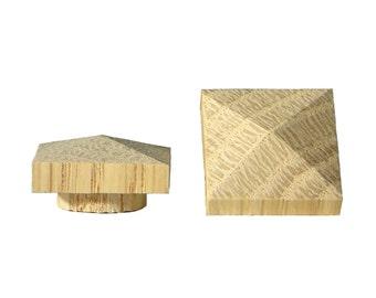 "12 pk 3/4"" Large White Oak Low Profile Pyramid Top Hole Plugs"