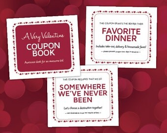 Valentine's Day Coupons for Kids, Family Time, Printable PDF