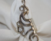 Vintage Sterling Silver Long Knuckle Ring 1970s Jewelry