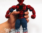 PATTERN Instant Download Spiderman Superhero Crochet Doll Amigurumi