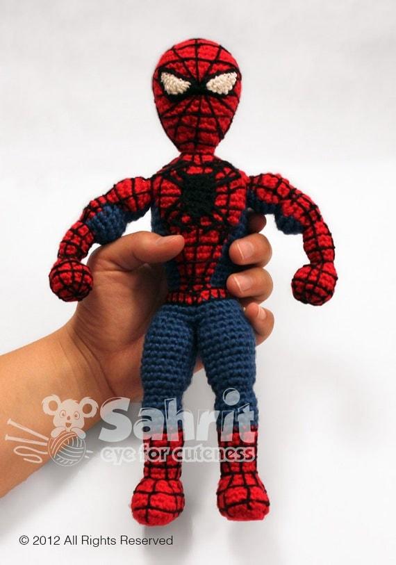 PATTERN Instant Download Spiderman Superhero Crochet Doll Amigurumi