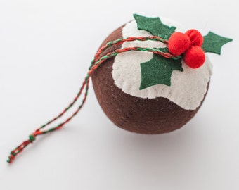 Christmas Pudding Ornament/ Tree decoration in felt - PDF file