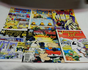 Lethargic Lad Comic Books 6 Total
