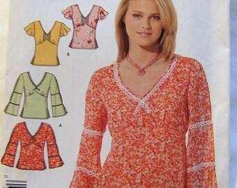 Simplicity 4823 uncut size 8 - 18 womens top blouse