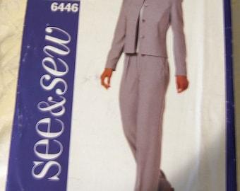 Butterick 6446 uncut size 6 - 10 womens pants suit