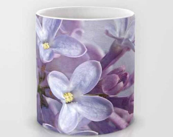 Lilacs coffee mug, Photography, Photo Mug, Coffee Mug, Ceramic Mug, Flower, Garden