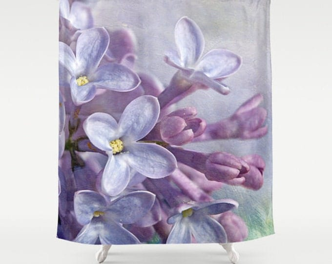 Lilacs Shower Curtain, Photography, Flowers, Floral, Bathroom Decor, Bath Curtain
